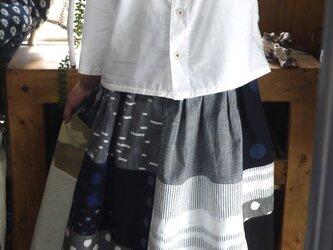 久留米絣パッチワークスカートの画像