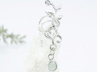 ~耳元に輝きを~ アクアプレーズの蔓飾りイヤーカフ (左耳用)の画像