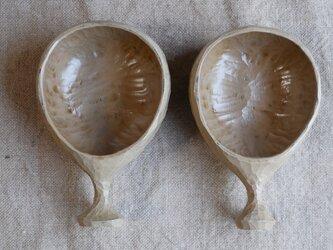 マグカップ(ククサ) 白茶 #0327の画像