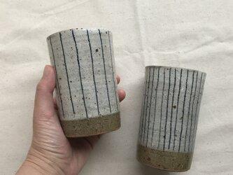 *福袋 粉ひきのフリーカップ2個セット(青ライン柄)の画像