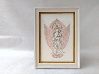 銅版画  聖観音菩薩 wh01の画像