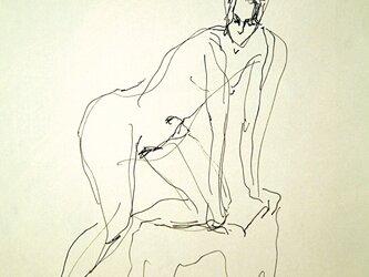 ペンによる裸婦素描(額無し)その7の画像