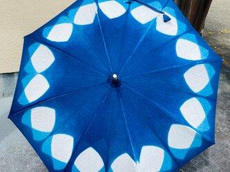 藍染め おしゃれな日傘の画像