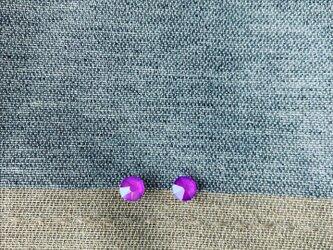 K14GF 紫フラットピアス(エレクトリックバイオレット)の画像