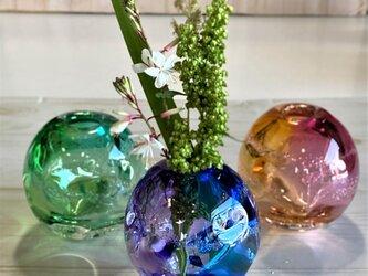 ゆらぎグラデーションカラー花器 ギフトラッピング無料の画像