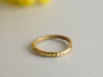 Rough Ring ゴールド 送料無料 (シルバーにも変更可能)の画像