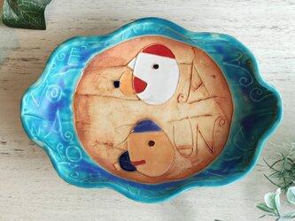 【トルコマット】明るく、楽しく、美味しく! A-UN 楕円皿1の画像