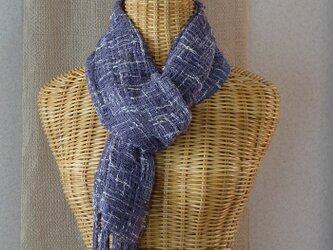 手織りコットンストール・・ラベンダーの画像