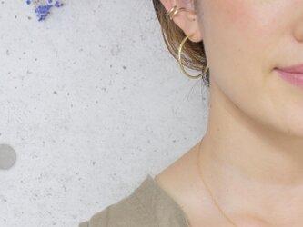 フープピアス LL ×つちめ  両耳用 真鍮製の画像