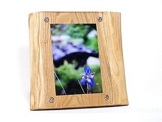 おしゃれな木のフォトフレーム No.1栗の天然木(L-37)の画像