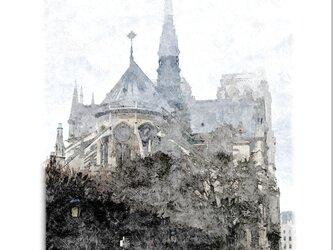 パリの風景(油絵風)の画像