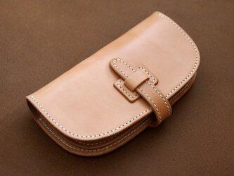 本革サドルレザーの長財布【受注製作】の画像