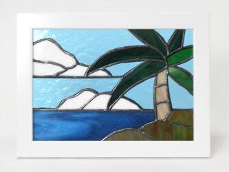ステンドグラスパネル  オーシャンビュー(Ocean view)の画像