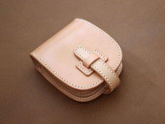 本革サドルレザーの二つ折財布【受注製作】の画像