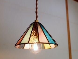 小さな丸屋根の灯り ペンダントライト カラフルの画像