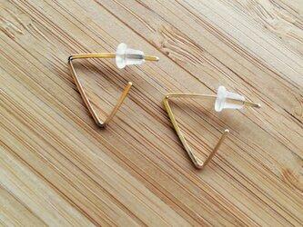 三角ピアス【14KGF】の画像