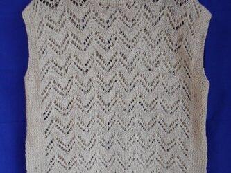 透かし編みのサマープルオーバー(3)の画像