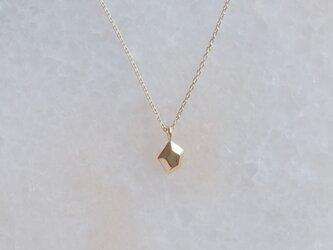 ✶K10YG✶ lítið fimmtungur necklace :変形五角形 ネックレス イエローゴールドの画像