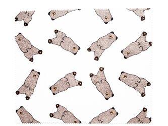 のんびりヒグマのメガネ拭きの画像