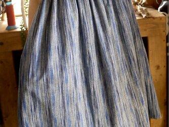 久留米絣フレンチワンピースの画像
