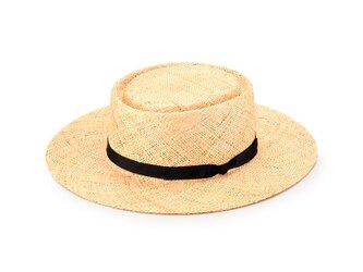 Hanna ハンナ バオ草 ポークパイ型 カンカン帽 57.5cm  [UK-H115-NA]の画像