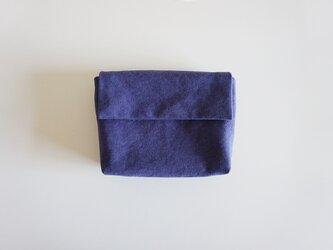 きちんとポーチ L  / purpleblueの画像