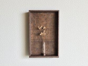 [柿渋染め]和紙の箱型一輪挿しの画像