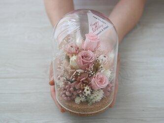 [誕生日プレゼント・結婚祝い・両親贈呈品]  ガラスドーム Antique pinkの画像