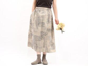 タックギャザースカート(シャンパンゴールド)#372の画像