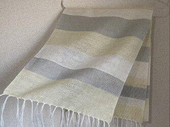 手織りリネンストール SU22の画像