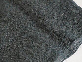 asa0025C 麻布 蚊帳の解き50cm 藍染☆古布古裂/木綿/筒描き/型染め/藍染/絹/ボロ襤褸の画像