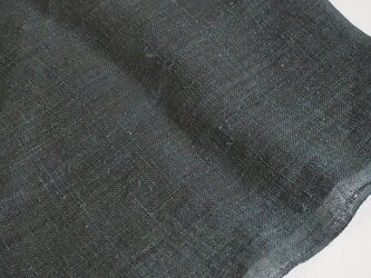 asa0025B 麻布 蚊帳の解き100cm 藍染☆古布古裂/木綿/筒描き/型染め/藍染/絹/ボロ襤褸の画像