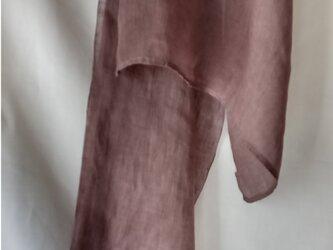 大人紫色染めリネンガ―ゼスト―ルの画像