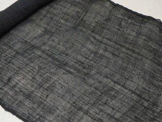 asa0026B 麻布 蚊帳の解き100cm 藍染☆古布古裂/木綿/筒描き/型染め/藍染/絹/ボロ襤褸の画像