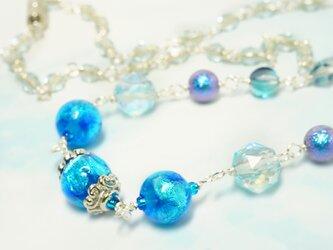 【蓄光】ホタル玉ショートネックレス*ブルーの画像