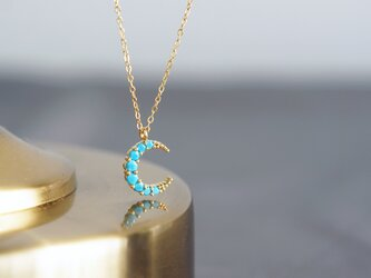 【14KGF】Turquoise Crescent Moon Necklaceの画像