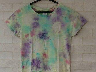 タイダイ染め 不思議な模様のレディースTシャツ(レディースSサイズ)の画像