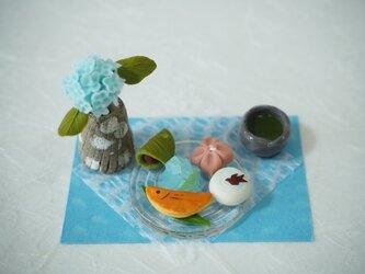 ミニチュア初夏の和菓子の画像