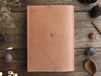 「読書がしたくなる」枇杷の葉染のソフトカバー単行本ブックカバーの画像