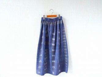 手織り絣木綿の1ティアードスカートの画像