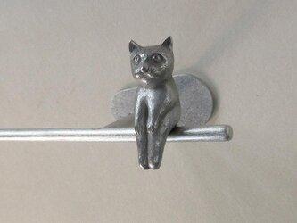 ネコのいるタオル掛け(ミニD)の画像