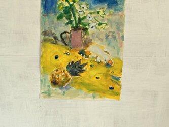 花とカモノハシ(額無し)の画像