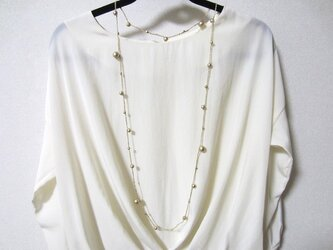 コットンパール ロングネックレスの画像