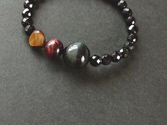 *3 color tiger-eye braceletの画像