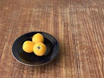 ショートリム小皿 瑠璃の画像