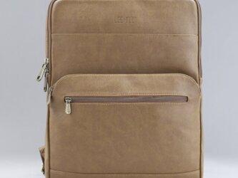 リュック メンズ レザー 大容量 バッグ 鞄 パソコン収納15インチ 防水 プレゼントの画像