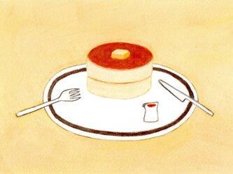 【受注制作】「ホットケーキ」イラスト原画 ※額縁入りの画像