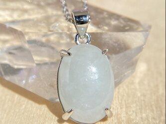 天然翡翠シルバーネックレス4.72ct☆ミャンマー産の原石から磨きました!の画像