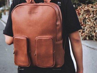 リュック メンズ レザー 大容量 バッグ 鞄 レディース パソコン収納15インチ 防水 旦那 プレゼントの画像