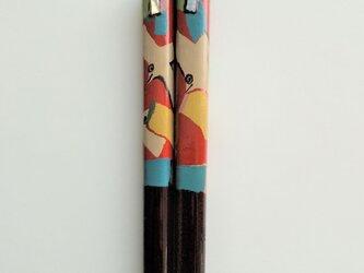 漆のお箸「とり」の画像